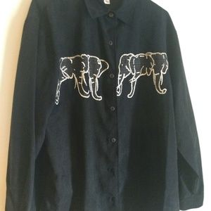 Blast Studio Elephant button shirt NWT